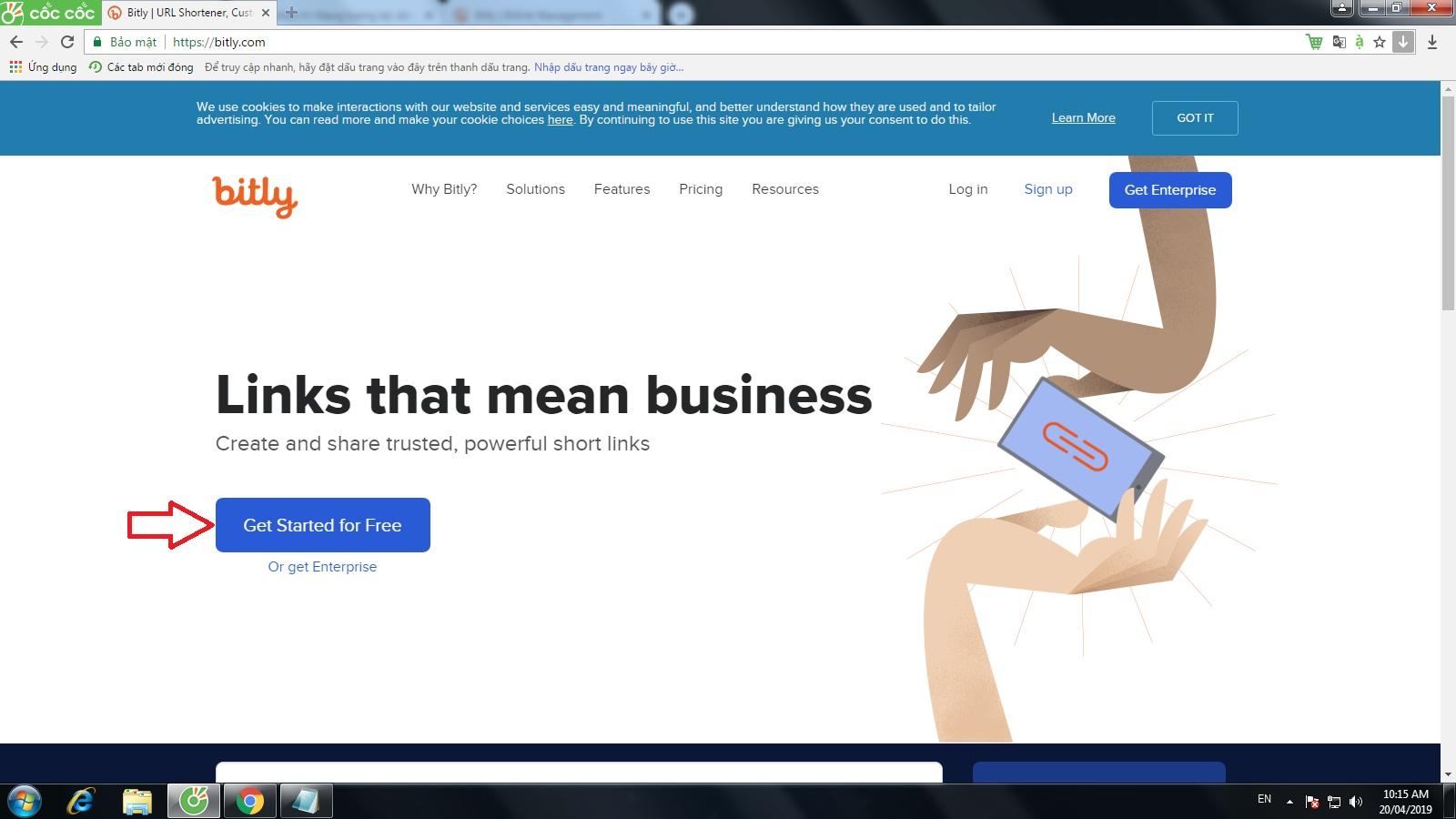 Cách tạo link rút gọn với Bit.ly