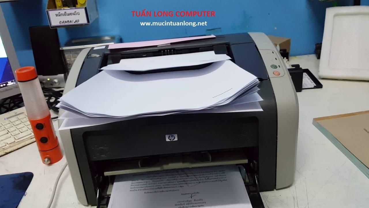 """Nạp mực máy in HP LaserJet P1010 - """" Siêu nhanh """" 80k Free vệ sinh máy"""