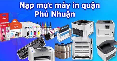 Nạp mực máy in tại nhà Quận Phú Nhuận uy tín chất lượng