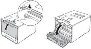 Lỗi máy in Brother không nhập hộp mực và cách khắc phục