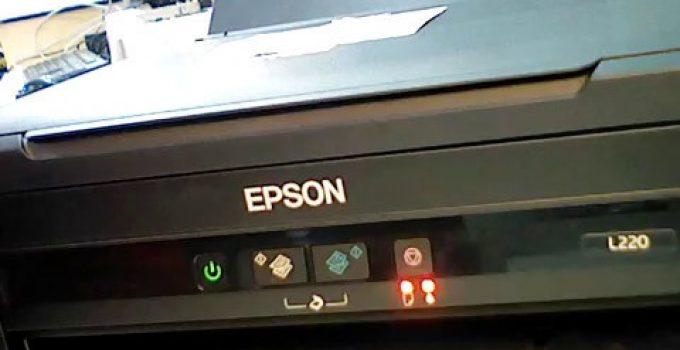 Máy in Epson L300 báo đèn mực