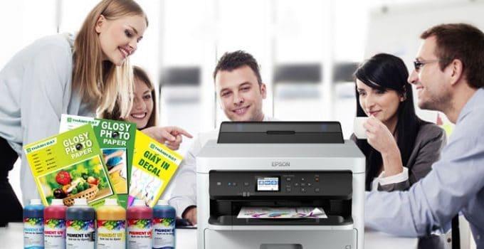 các loại mực cho máy in màu