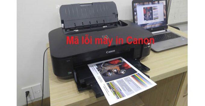 Lỗi máy in Canon 6560, IX6770, IX Series